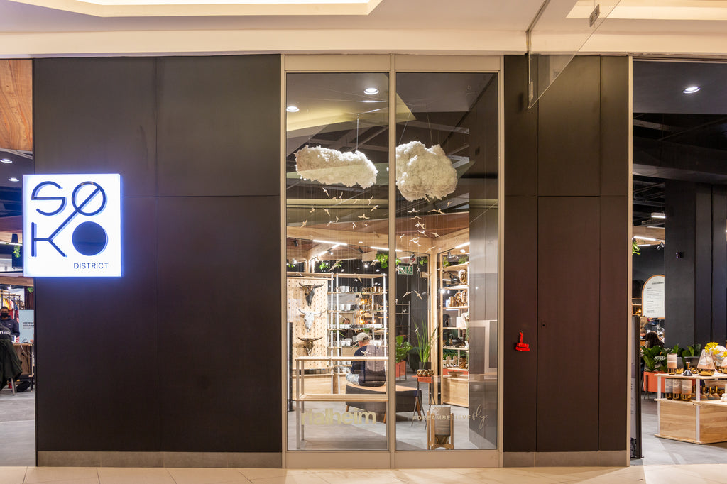 Photography of Rialheim's new retail store at SOKO District in Rosebank