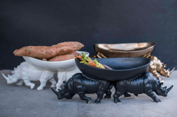 TWO RHINO BOWL