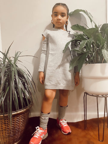 Heather grey sweat shirt dress