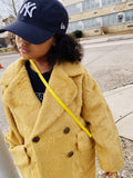 Mustard teddy coat
