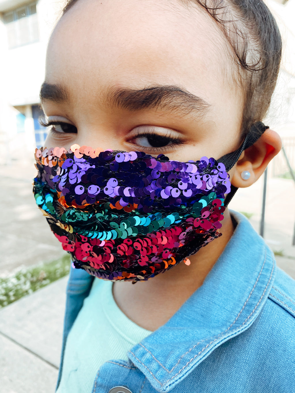Multi colored glam girl mask