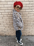 Little girls leopard winter coat