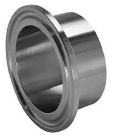 "Sanitary Weld On Ferrule, 2"" Tri Clamp/Tri Clover Fitting, Stainless Steel 304"