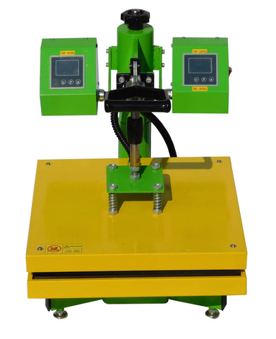 "Dual Digital Control Rosin Heat Press, 15"" x 15"" Platen - Emerald Gold"