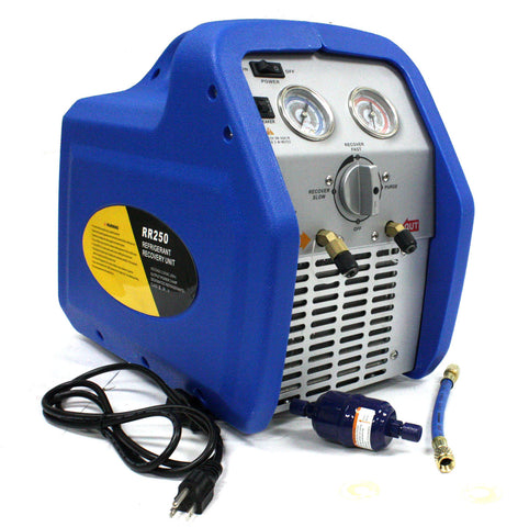 RR250 Portable AC Refrigerant Recovery Machine 3/4 HP 4 R410A HVAC
