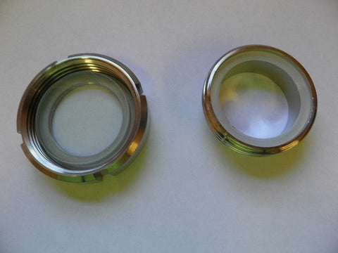 "4"" Weld on Sight Glass with Threaded Ferrule - Emerald Gold"