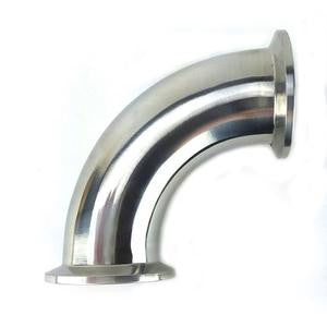 "2"" 90° Elbow with 2"" Tri Clamp Fittings, Stainless Steel 304 - Emerald Gold"
