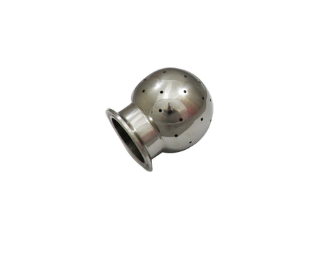"Fixed CIP Spray Ball with 1.5"" Tri Clamp End and 2"" Ball"