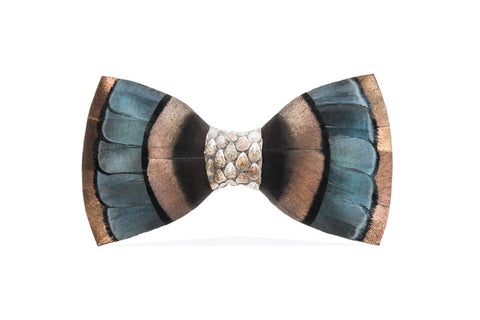 Big Sky Feather Bow Tie