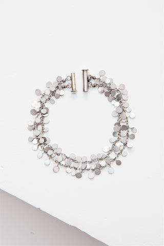Coined Silver Bracelet