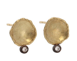 Gold Irregular Discs with Inverted Diamonds