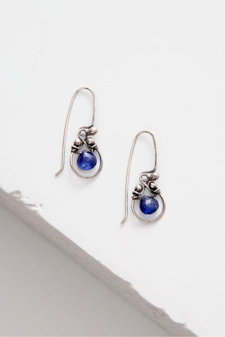 Horseshoe Earring with Gemstone