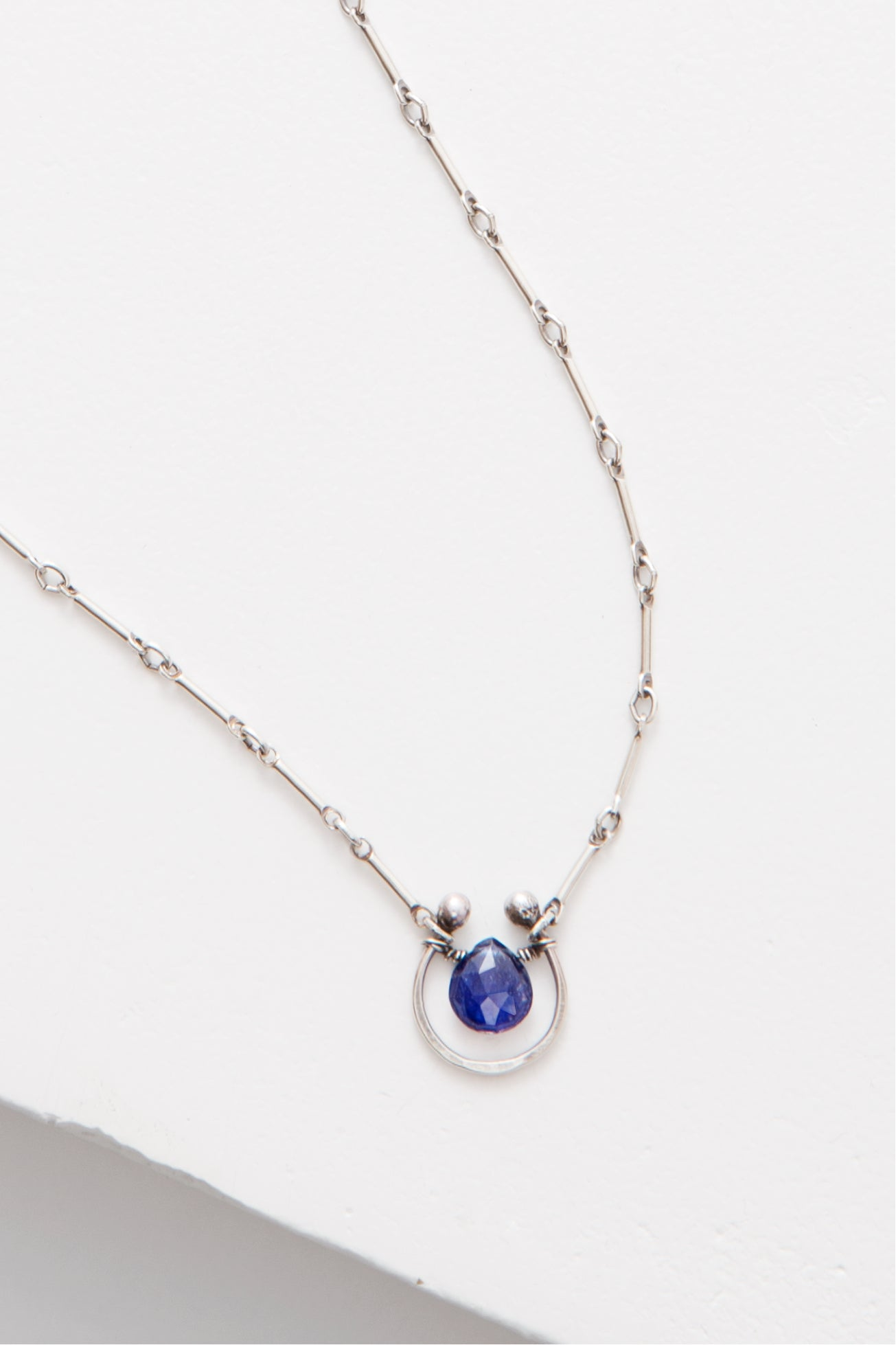 Horseshoe Solo Necklace with Gem