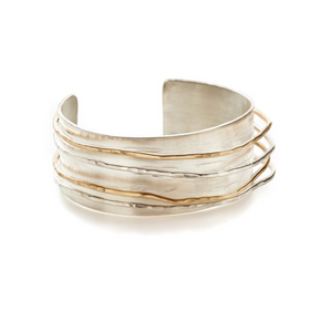 Wide Band Cuff with Wire Wrap