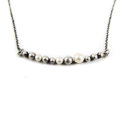 Sterling necklace with freshwater pearls