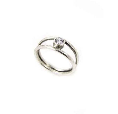 Solitary Cubic Zirconia Ring