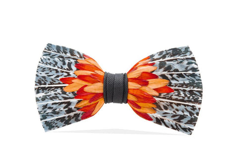 Dahlia Feather Bow Tie