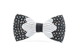 Rope Feather Bow Tie