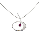 Elliptical Gemstone Elegance Necklace