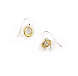 Tiny Vermeil and Silver Circle Earrings