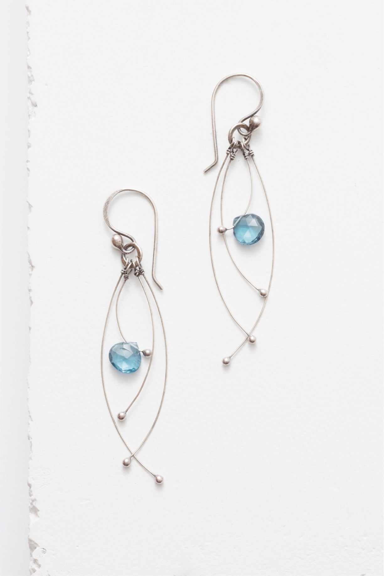 Tickle Earrings with Gemstone