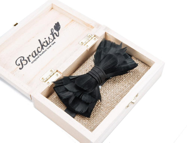 Rice Feather Bow Tie