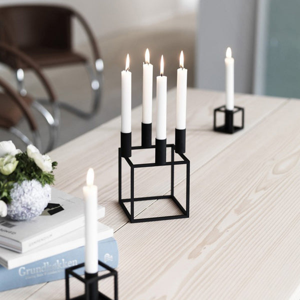 Kubus 4 Candle Holder - Black