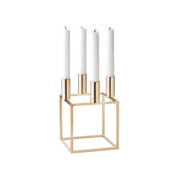Kubus 4 Candle Holder - Brass