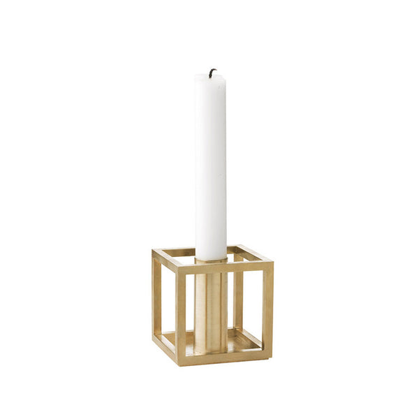 Kubus 1 Candle Holder - Brass