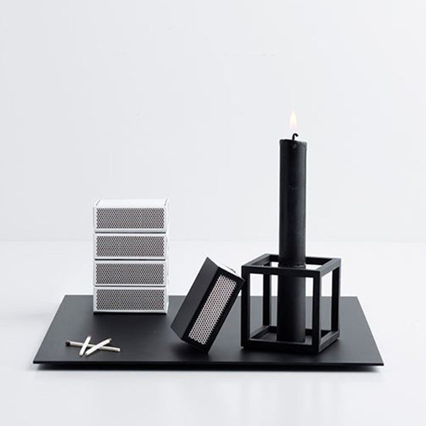 Kubus 1 Candle Holder - Black