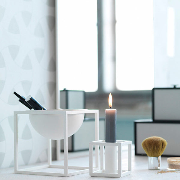 Kubus 1 Candle Holder - White