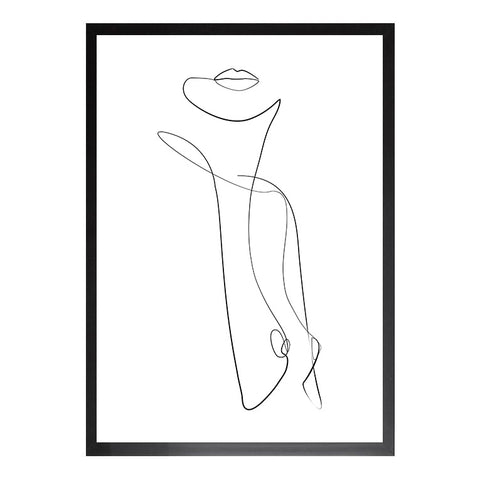 Female Figure - One Line Drawing Print