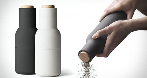 Bottle grinder set carbon + ash (wood lid)