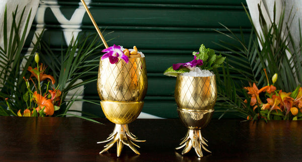 Pineapple cup 12 oz | Gold