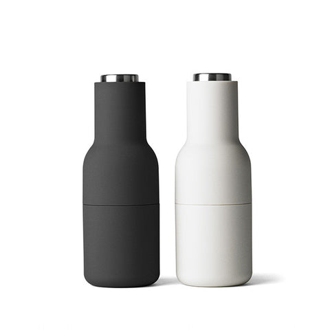 Bottle grinder set carbon + ash (Silver lid)