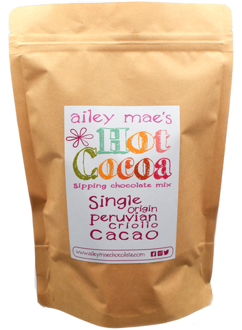 Sipping Chocolate Mix - Single Origin Peruvian Criollo Cacao