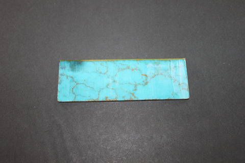 "Green Turquoise with Gold Vein 1 7/8"" x 5 5/8"""