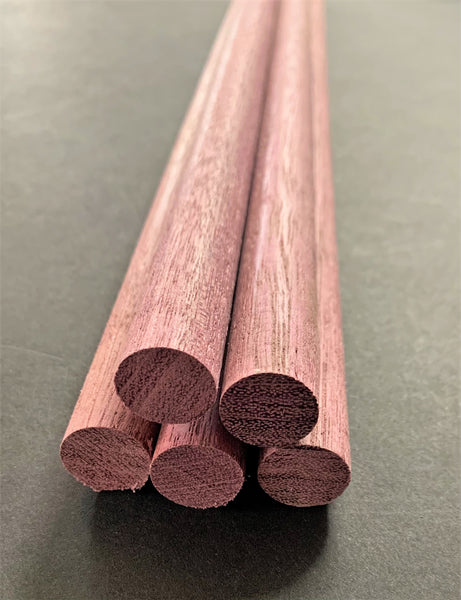 "3/4"" x 18"" Purpleheart Dowels"