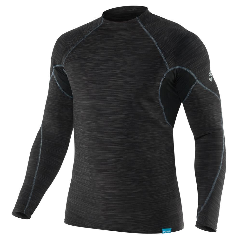 NRS HydroSkin Shirt charcoal heather front