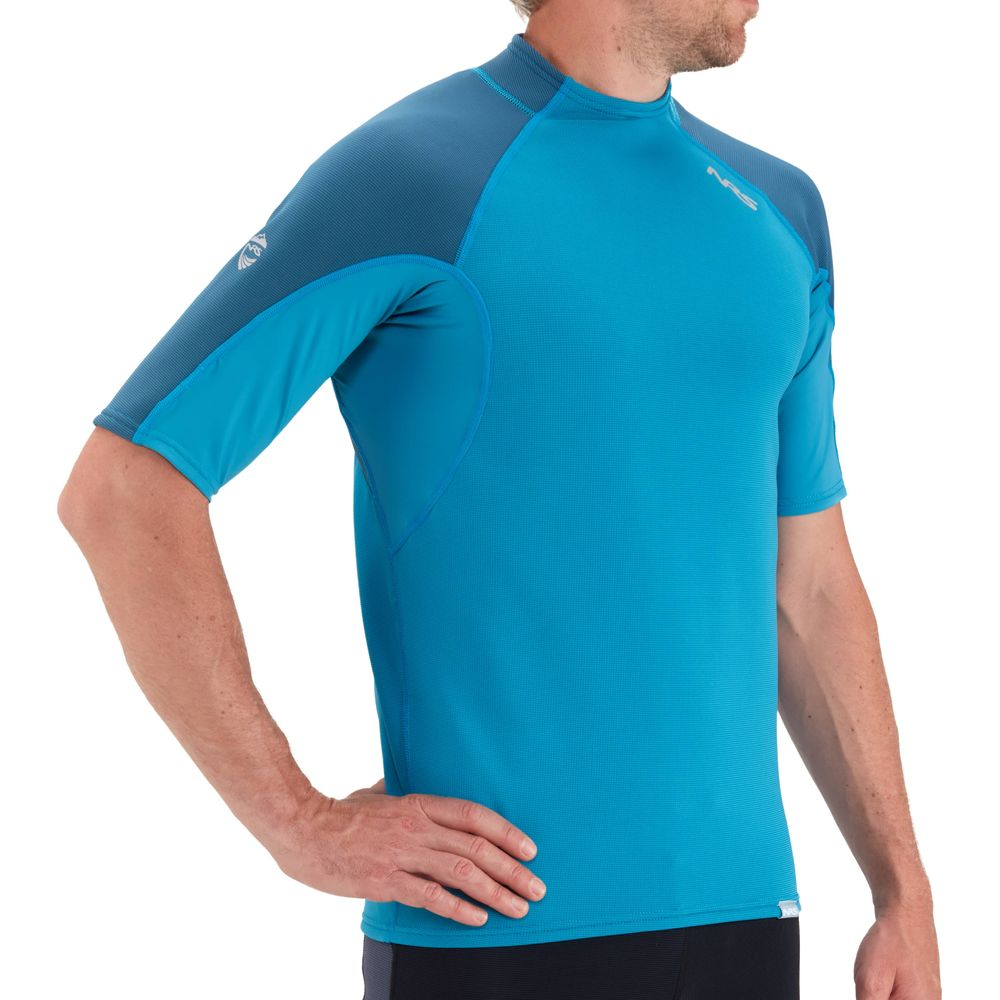 NRS Mens HydroSkin Short-Sleeve Shirt Fjord blue