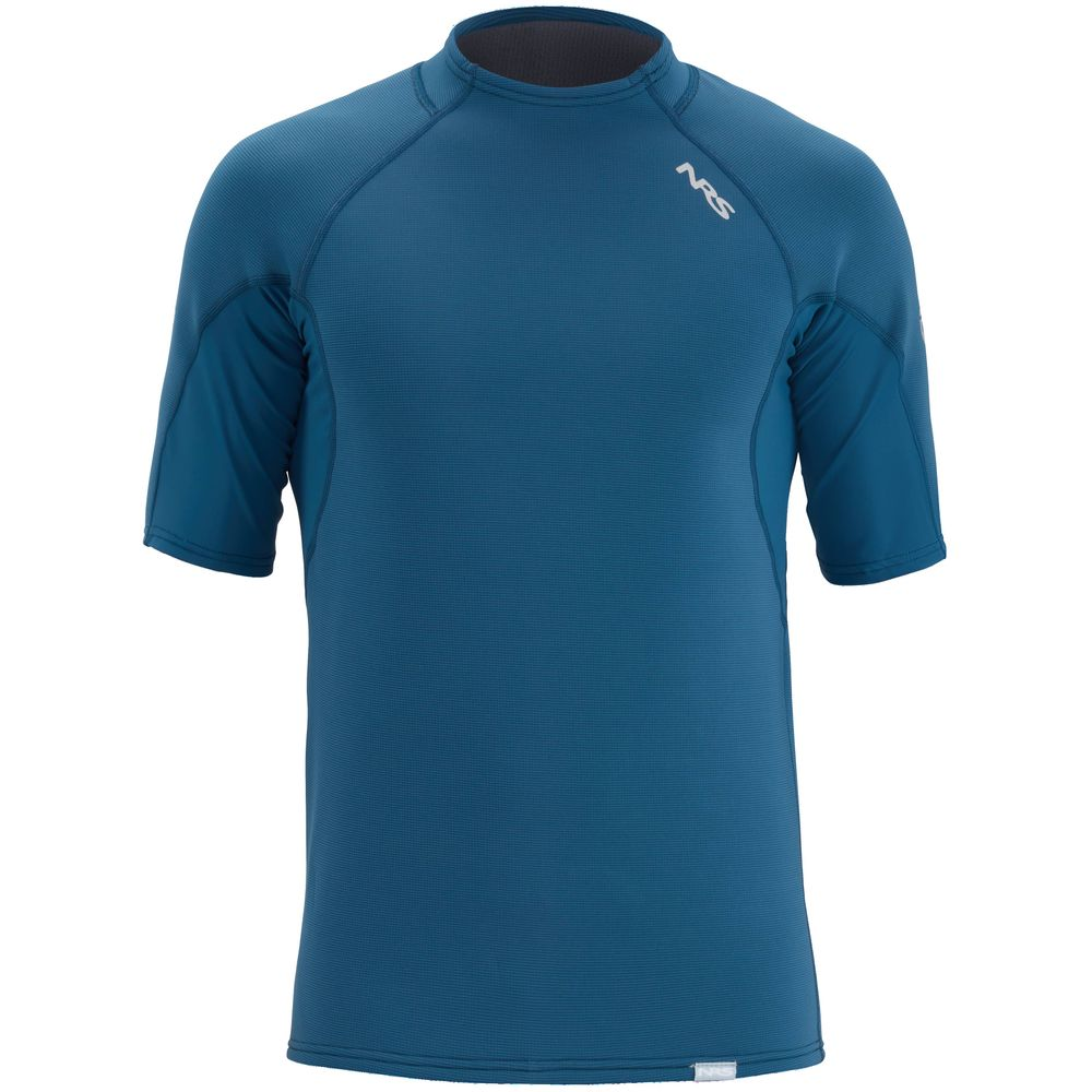 NRS Mens HydroSkin Short-Sleeve Shirt Poseidon blue