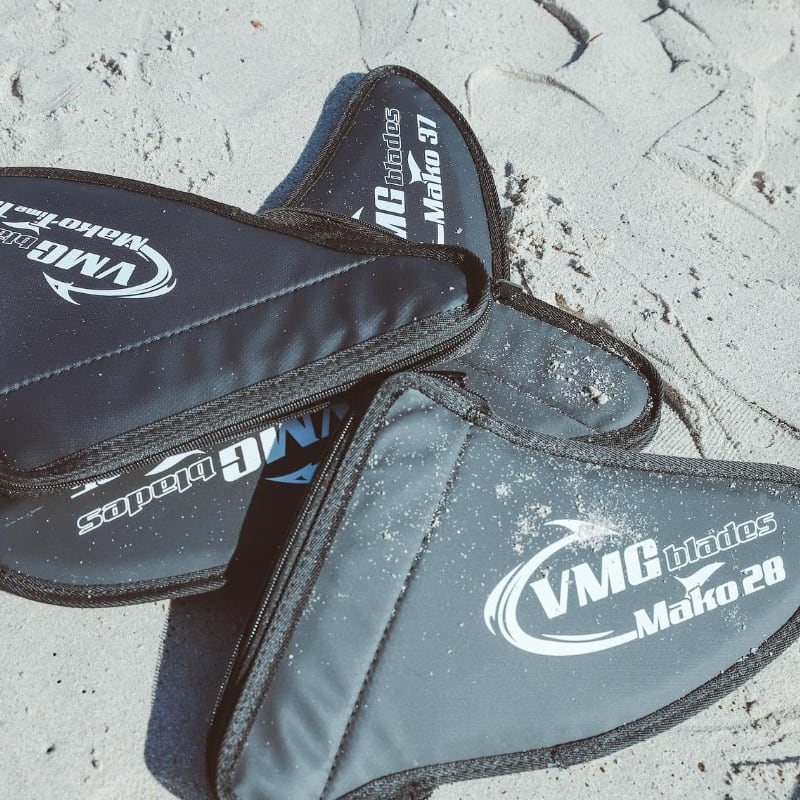 VMG blades Fin Cover all on beach