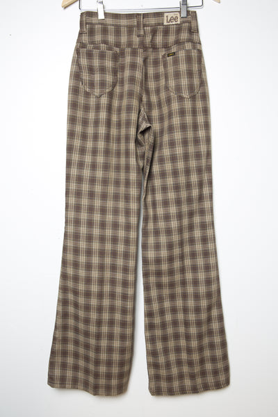 Vintage Lee Plaid Bell Bottom Pants from the 60's