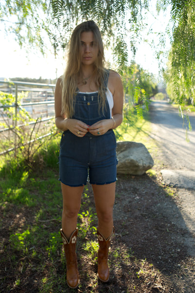 Vintage Big Smith Denim Cutoff Overalls