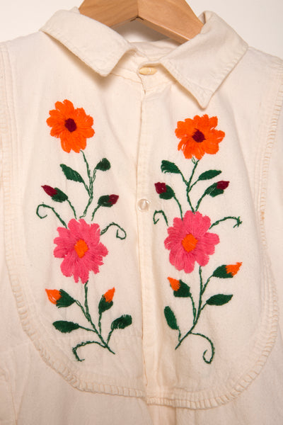 Vintage Embroidered Linen Shirt