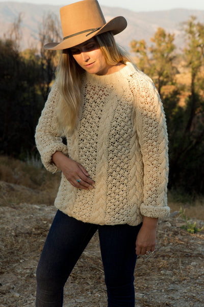 Vintage 60's Cable Knit Pullover