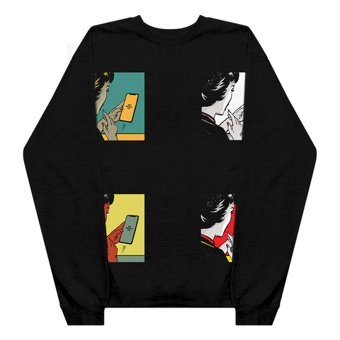 Four Covers Black Crewneck + Digital Album