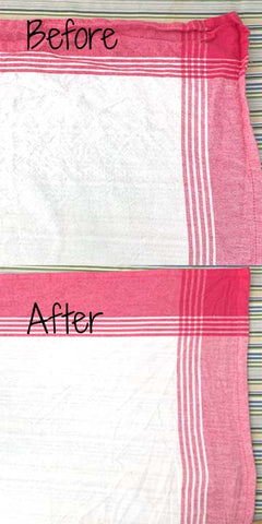 734 before after ironing
