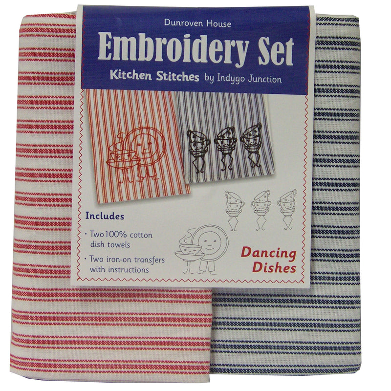 Two Towels Hand Embroidery Kits - Multiple Patterns