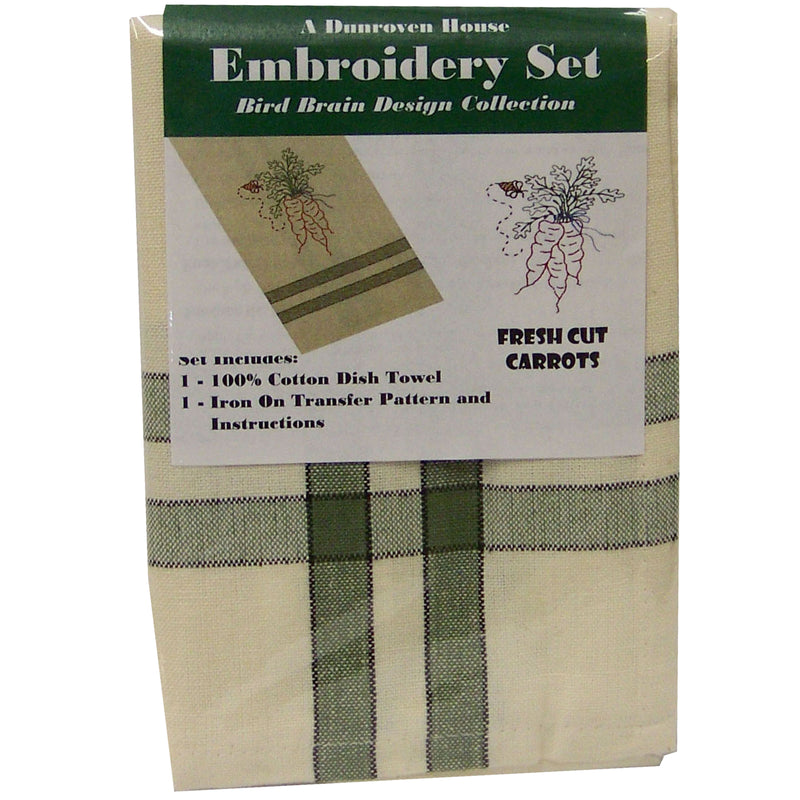 Single Towel Hand Embroidery Kits - Multiple Patterns